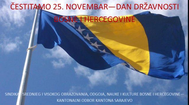25. novembar – Dan državnosti BiH